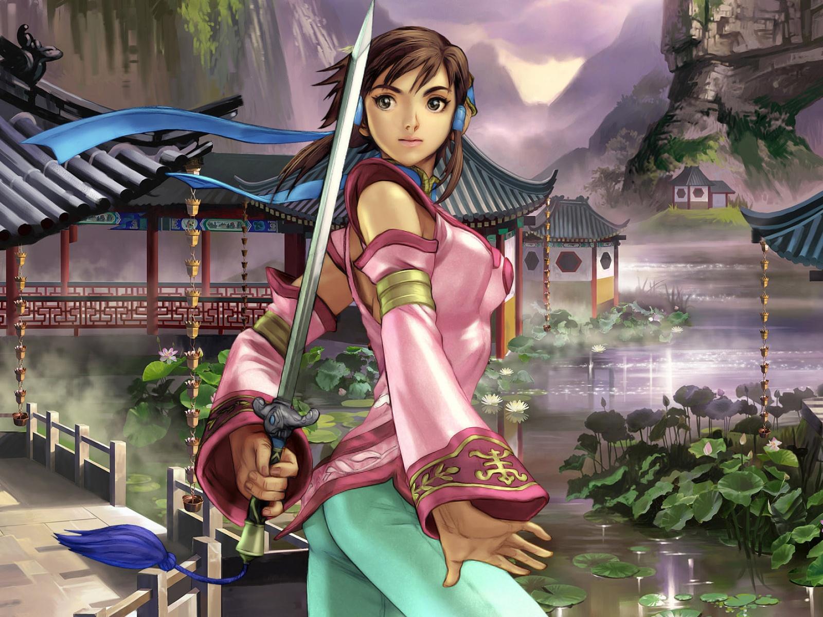 Les fonds écrans (Filles) - Page 2 4894-femme-samourai-WallFizz