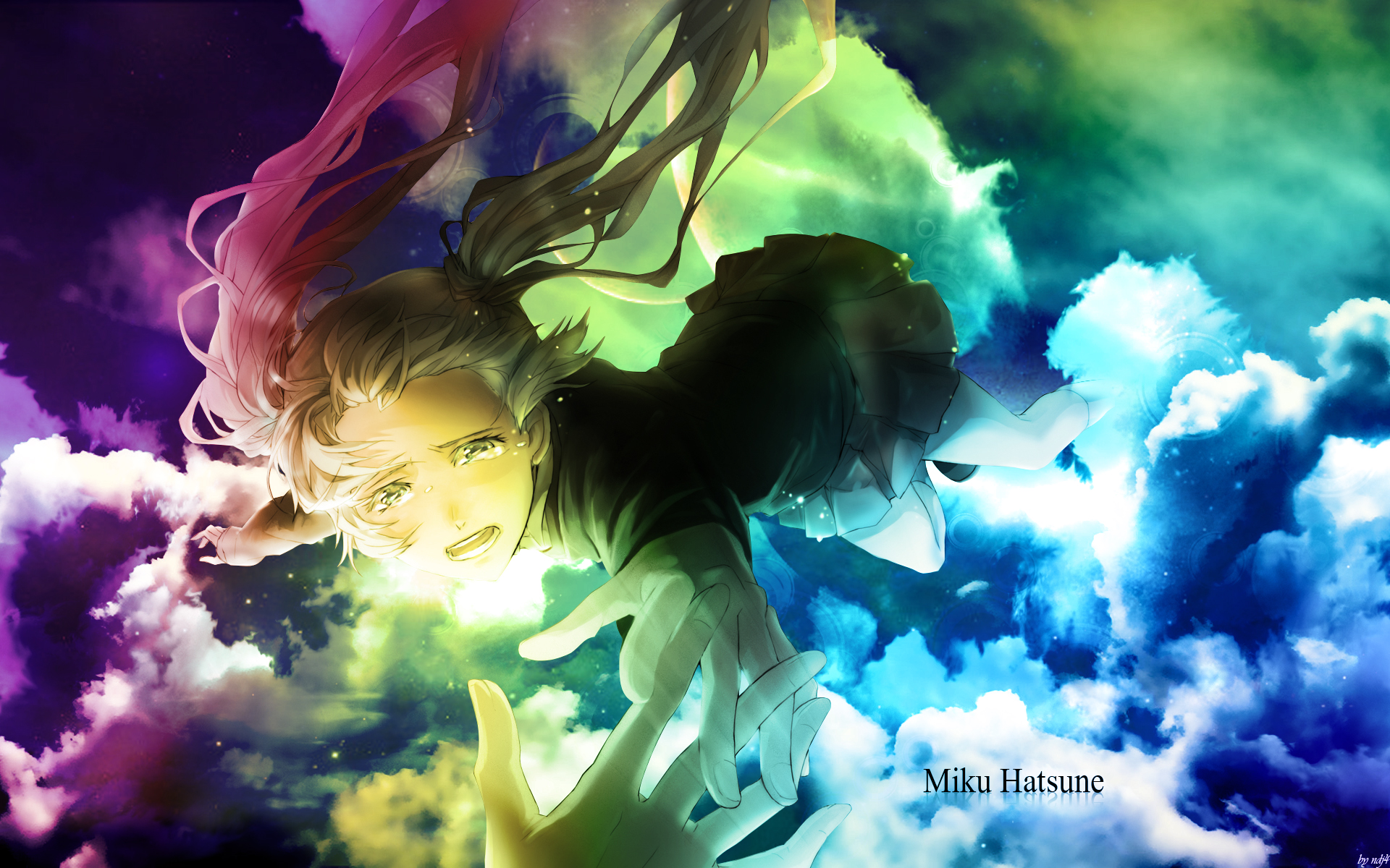 Fond d 39 ecran miku vocaloids wallpaper for Photo fille fond ecran