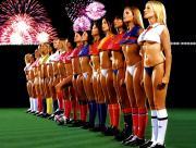 Equipe de foot féminine sexy