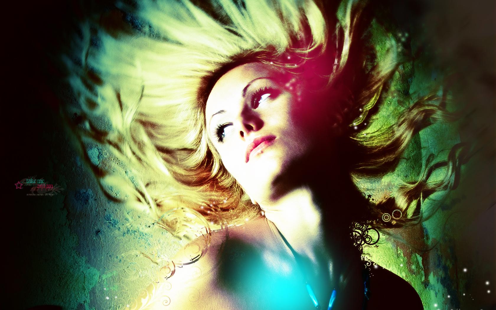 Fond d 39 ecran hair in the air wallpaper for Fond ecran jolie fille