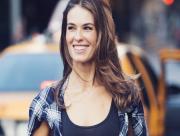 Femme souriante � New York